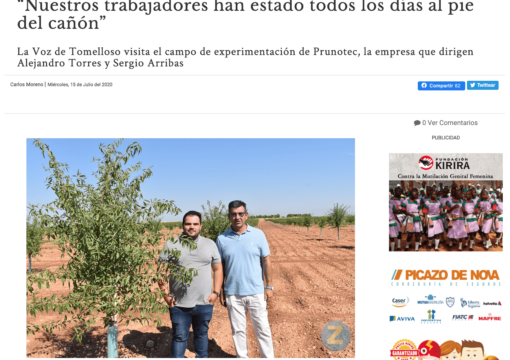 Entrevista en La Voz de Tomelloso